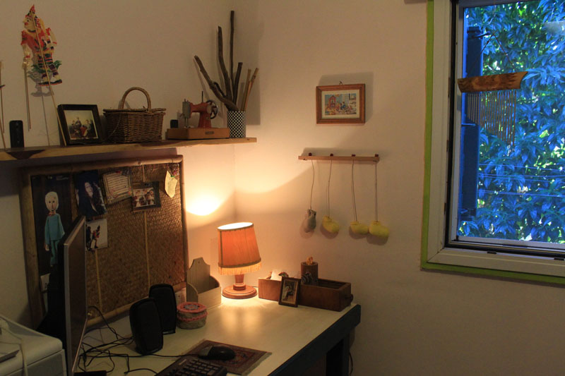 My work area at home by Noa Becker